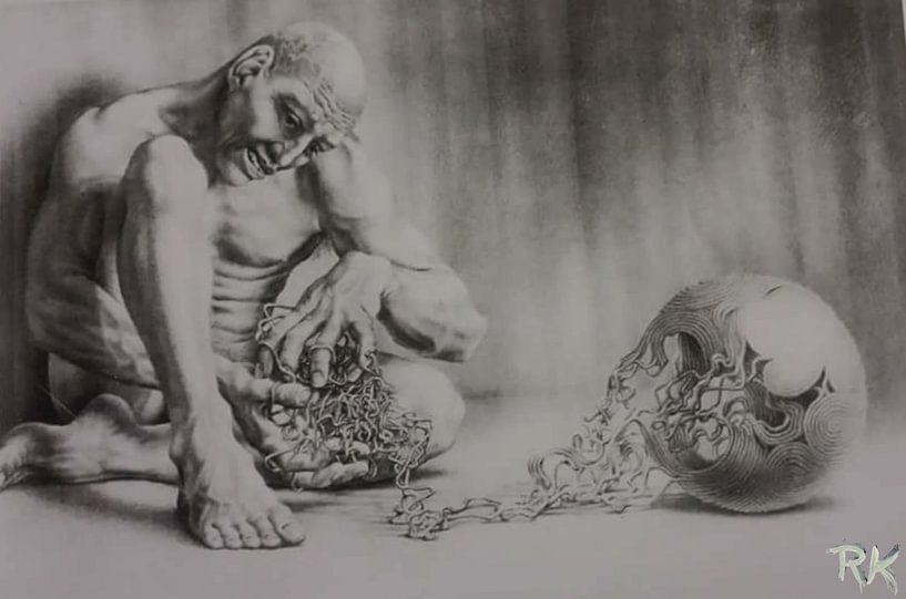 The world in turmoil van KB Prints