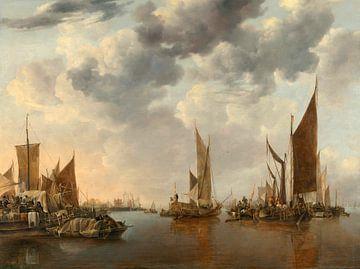 Meereslandschaft mit Schiffen, Jan van de Cappelle
