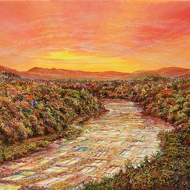 Glazen rivier van Art Demo