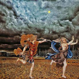 Daphne von Apollo nach Cadzand aan Zee gejagt. von Ruben van Gogh