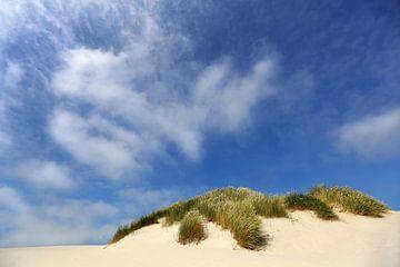 Kühner blauer Himmel über der Düne von Caroline van der Vecht