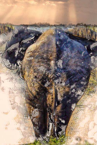 Olifant onderweg van Anouschka Hendriks