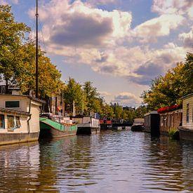 Hausboote in Groningen von Marga Vroom