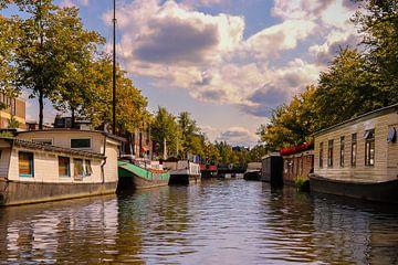 Woonschepen in Groningen van Marga Vroom