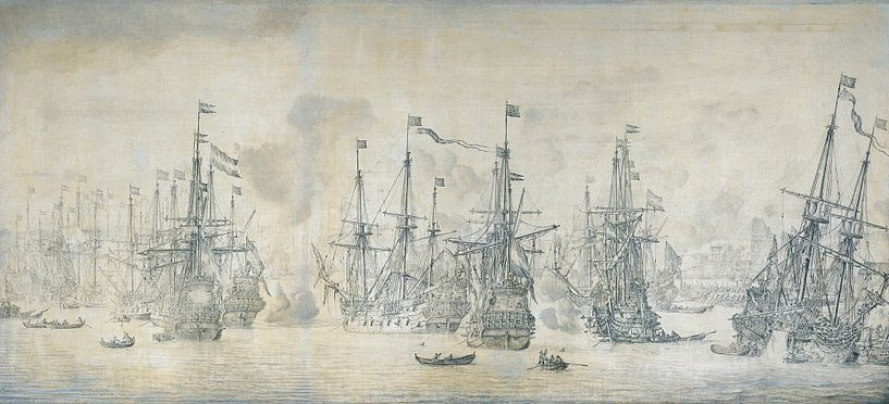 Mislukte Engelse aanval op de VOC vloot  van Marieke de Koning
