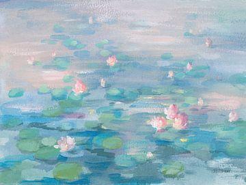Zonsopgang waterlilies, Danhui Nai van Wild Apple