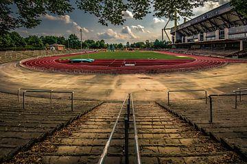 Rode Aarde Stadion Dortmund van Johnny Flash
