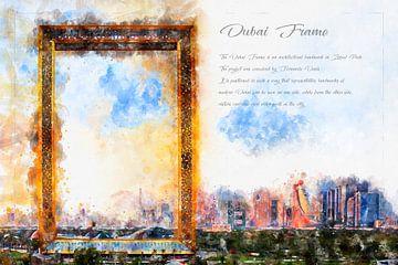 Dubai Frame, Waterverf, Dubai van Theodor Decker