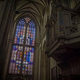 Evangelistenraam en orgel in de Utrechtse Domkerk van Gerrit Veldman