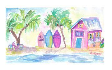 Surf Beach Bar mit Boards in Key West von Markus Bleichner