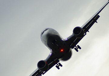 vliegtuig op kantelen