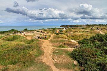 De duinen van Pointe du Hoc Normandië van