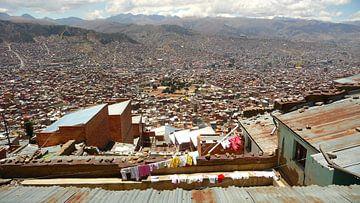 'Uitzicht op La Paz', Bolivia van Martine Joanne