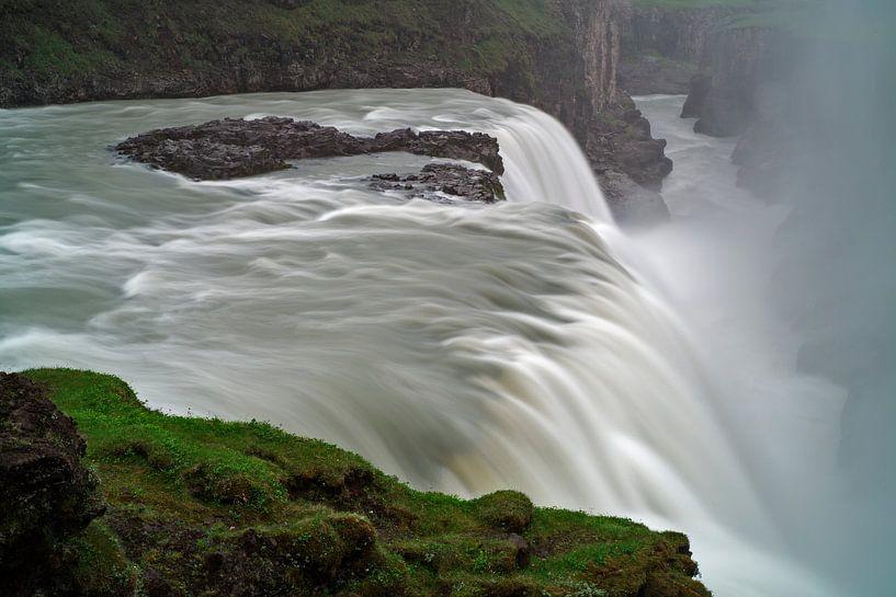 Gullfoss waterval van Ab Wubben