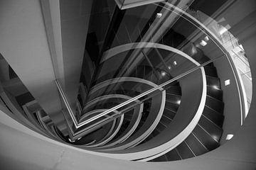 Aufbau einer Treppe von Wytze Plantenga