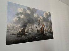 Photo de nos clients: VOC Zeeslag schilderij: Het verbranden van de Engelse vloot voor Chatham, 20 juni 1667, Peter van de, sur poster