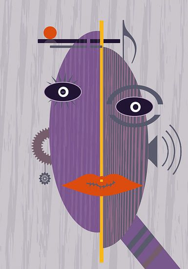 Gesicht Collage von Marion Tenbergen