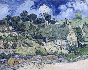 Häuser mit Reetdächern, Cordeville, Vincent van Gogh