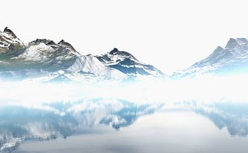 Schneebedeckte Berge 5 von Angel Estevez