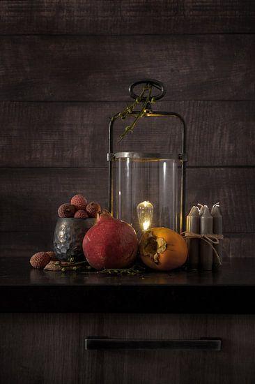 Modern Still Life van verschillende soorten fruit en elementen