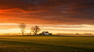 Landschaft in Zeeland von Frank Peters