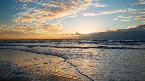 Zonsondergang Texel Noordzee