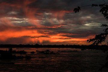 Zonsondergang over de Mekong - 3