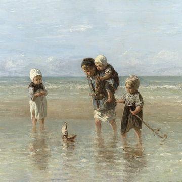 Enfants de la mer (version carrée), Jozef Israëls