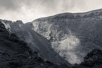 De krater van de vulkaan Vesuvius  van Wesley Flaman