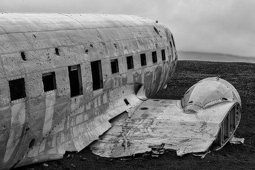Vliegtuig wrak IJsland van Menno Schaefer