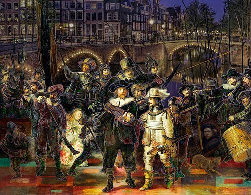 De Nachtwacht van Rembrandt in een creatief jasje