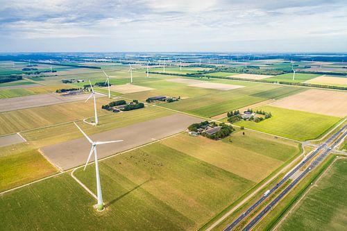 Luchtfotografie van een Nederlands landschap van Original Mostert Photography