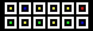Nested | Center | 06x02 | N=02 | Random #06 | RGBY van Gerhard Haberern