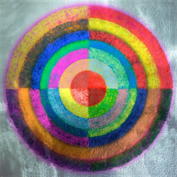Gelaagde kleurencirkel van Rietje Bulthuis