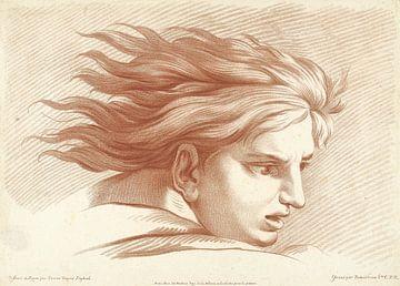 Kopf eines Menschen, Raffael, Gilles Demarteau, 1732-1776 von Atelier Liesjes