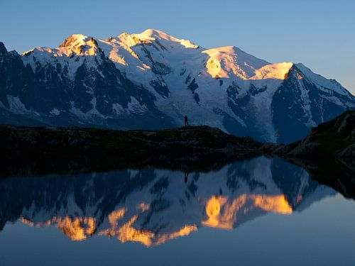 Mont Blanc Sonnenaufgang von Menno Boermans