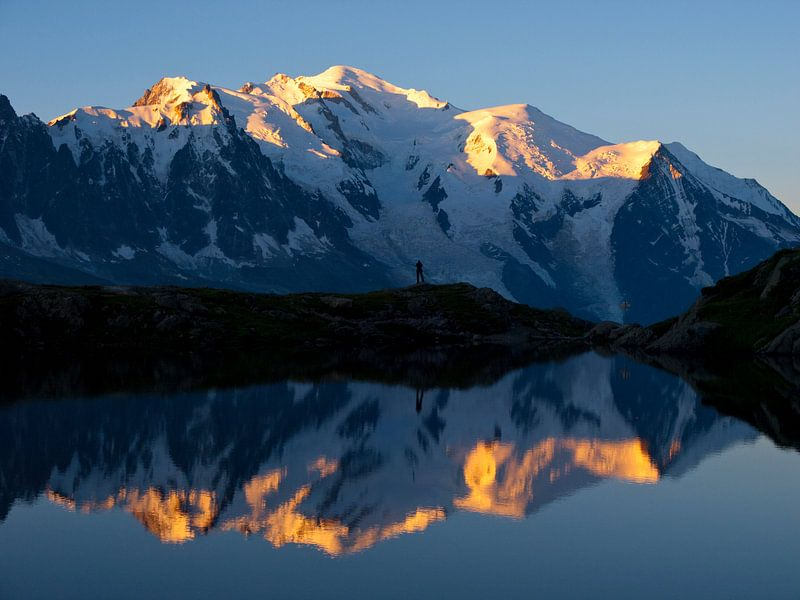 Mont Blanc zonsopkomst van Menno Boermans