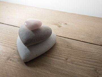 Stenen hartjes van Andy Midside