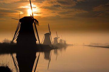 Kinderdijk - Nederland van Evy De Wit