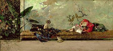 Die Kinder des Malers im Japanischen Salon, Mariano Fortuny