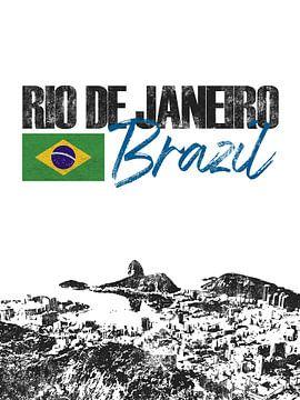 Rio de Janeiro Brésil sur Printed Artings