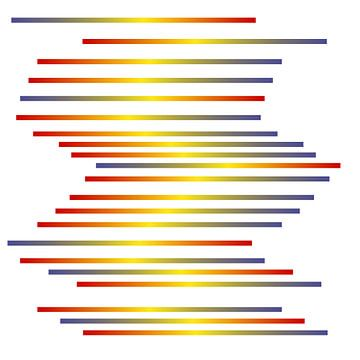 Spectra op wit van Berthold Werner