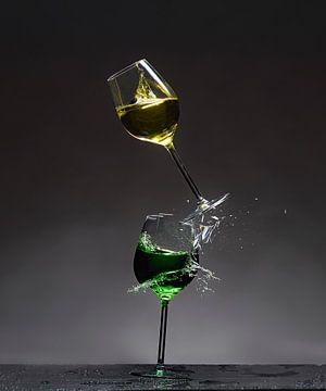 Shattered Glass - Jaune sur le vert sur Alex Hiemstra