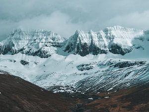 Besneeuwde IJslandse bergen