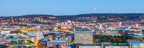 Cityscape of Stuttgart at night