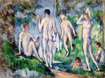 Gruppe von Badenden, Paul Cézanne (ca. 1892-1894) von Atelier Liesjes