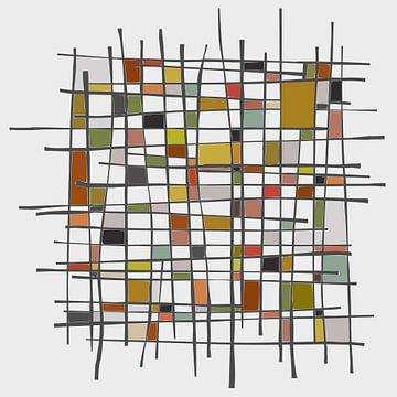 Abstracte samenstelling 1104 van Angel Estevez