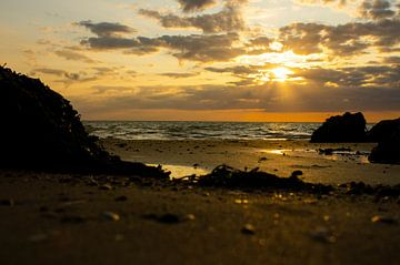 Sonnenuntergang an der Nordsee von Annelies Cranendonk