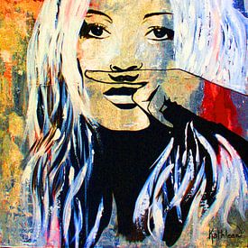 Kate Moss «Amour» sur Kathleen Artist Fine Art