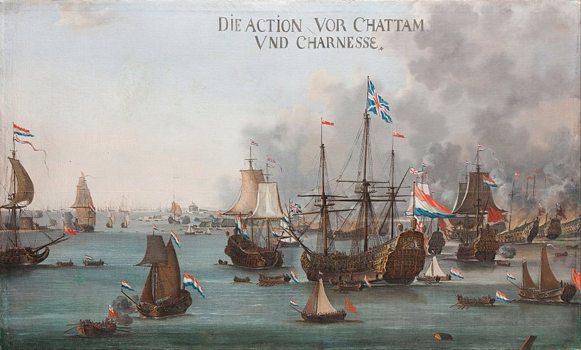 Die Schlacht von Chatham - Willem van der Stoop von Meesterlijcke Meesters